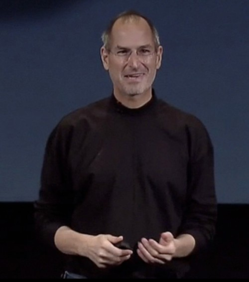 All of Apple's VPs could take some lessons on how Steve smiles and interacts with his audience