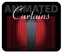 Keynotethemepark.com's animated curtains