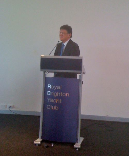 Alan Oster, Chief Economist, National Australia Bank presenting