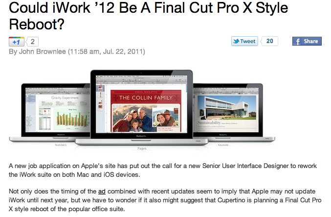 Rethinking Apple's Keynote presentation software: the need